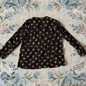Zara Tops - Zara BASIC M Jeweled gem 💎 fancy top blouse